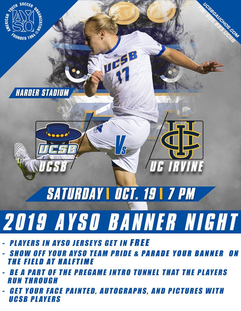 AYSO UCSB Banner Night 2019